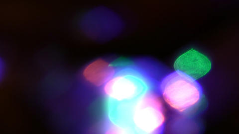 rotating lights out of focus Stock Video Footage