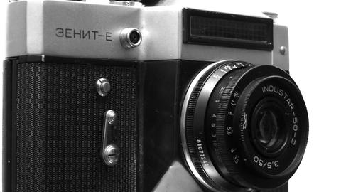 old film camera device rotating Stock Video Footage