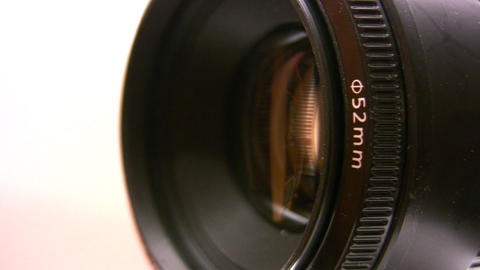 rotating camera lens Stock Video Footage