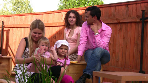 family outdoor Stock Video Footage
