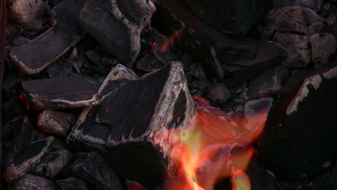 flame barbecue 2 Stock Video Footage