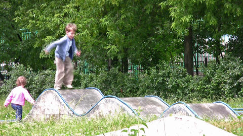 playing children Stock Video Footage