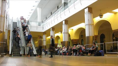 escalator station time lapse Footage