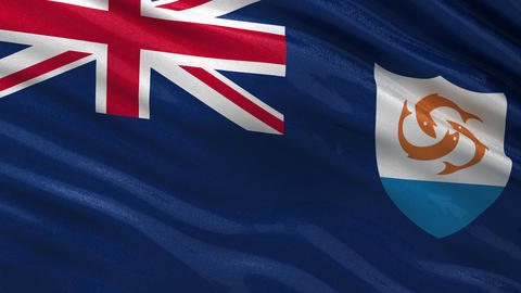 Flag of Anguilla seamless loop Animation