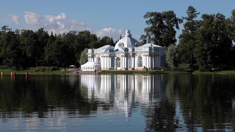Beautiful white palace Stock Video Footage