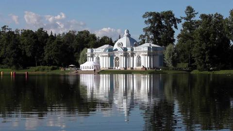 Beautiful white palace Footage