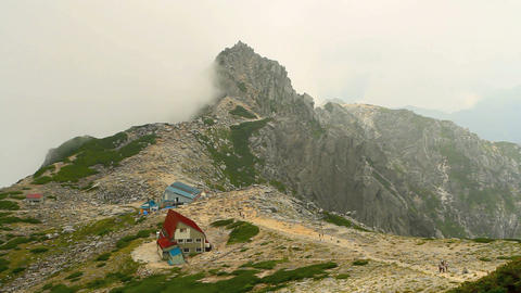 Tourist center in the Central Alps, Japan Footage