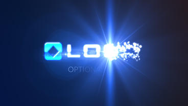 Magic Glowing Particles Spin Business Logo Build W stock footage