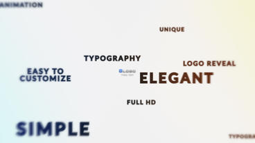 Text Titles 3D Fly Logo Revealing HD Animation After Effects Template