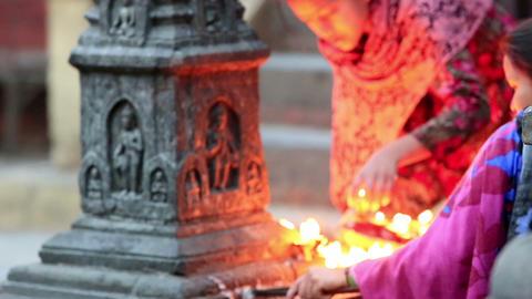 KATHMANDU, NEPAL - APRIL 5, 2014: Nepalese women a Footage