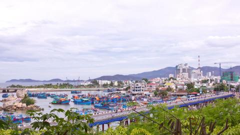 Nha Trang fishing boats. Nha Trang, Vietnam. Time  Footage