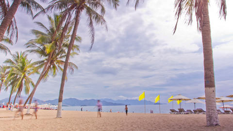 Tropical Beach. Time Lapse Stock Video Footage
