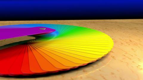 Color Palette Sampler on a Desk with Alpha Animation