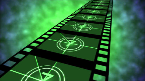 Movie Countdown Animation - Loop Green Animation