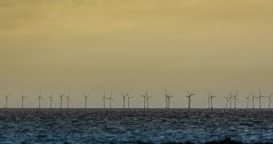 4K, Wind Energy Plant stock footage