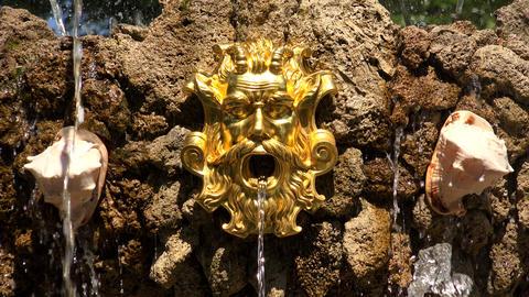 Fragment of fountain in the Summer garden. Saint-P Footage