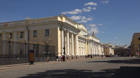 The ethnographic Museum in Saint-Petersburg. 4K Stock Video Footage