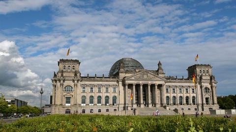 berlin german bundestag with tv tower in 11411 Footage