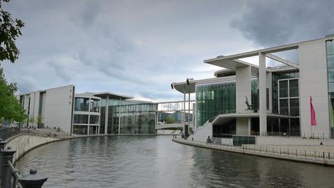 german bundestag Loebe and Lueders building 11413 Stock Video Footage