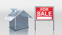 investment glass house sale sold sign HD Animation