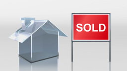 investment glass house sale sold sign HD Stock Video Footage