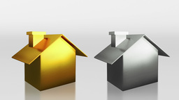 investment gold and silver house HD Animation