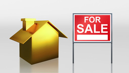 investment gold house sale sold sign HD Animation