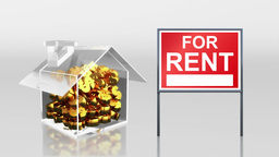 investment saving at house sale and rent HD Animation