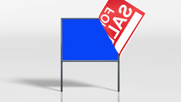 signage stand house for sale keying 4 K Animation