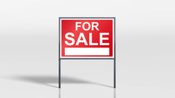 signage stand open house for sale 4k Animation