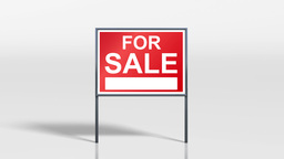 signage stand sold on top of for sale 4k Stock Video Footage