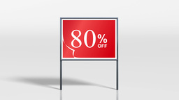 shop signage stand discount 4k Animation
