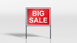 shop signage stand open and big sale 4k Animation