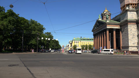 Admiralteisky Avenue In St. Petersburg. 4K stock footage