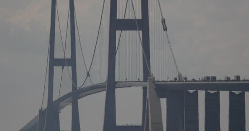 4K, Traffic On Oeresundbridge between Danmark And Stock Video Footage
