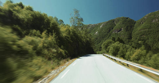 4K Scenic Drive, Norway, Nordgulvatnet Stock Video Footage