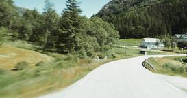 4K Scenic Drive, Norway, Nordgulvatnet Footage