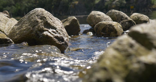 4K, Stream course, rippling water Stock Video Footage