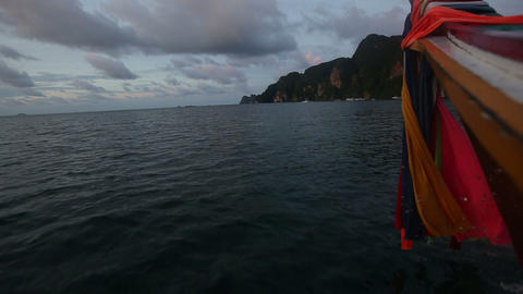 early morning sailing boat rocks Footage