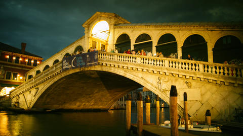 Some Attractions Of Venice City In Italy, Rialto B stock footage