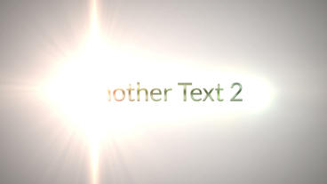 Text Titles Flash Light Transition Revealing Logo After Effects Template