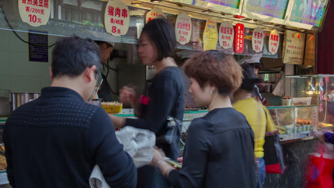 Shanghai fast food timelapse 02 Stock Video Footage