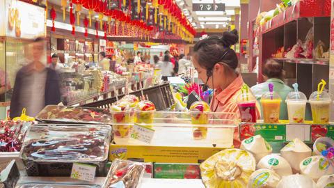 Shanghai store timelapse Footage