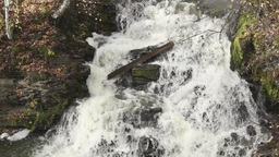 Waterfall at the mauntain river Footage