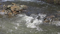 Turbulent mountain stream Footage
