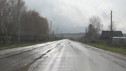 Driving through the village in Russia Stock Video Footage