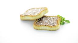 Chocolate tart cookies Footage