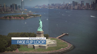 Page Flip Display Loop - After Effects Template After Effects Template