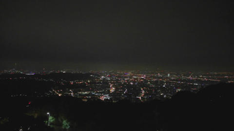 evening pan of taipai - yanmingshan viewpoint Footage