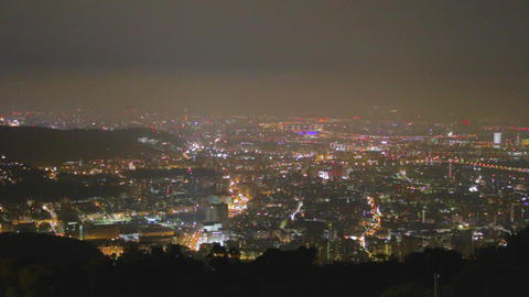 wide 180 pan from yanmingshan viewpoint Footage